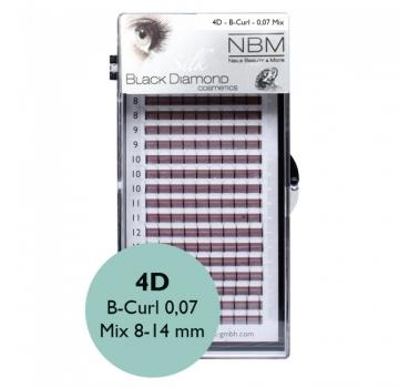 BDC 4D-Lashes B-Curl 0,07 Mix - NBM
