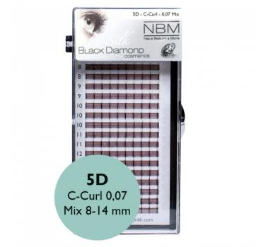 BDC 5D-Lashes C-Curl 0,07 Mix - NBM