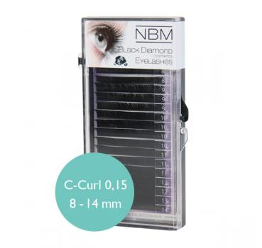 BDC Silk Lashes C-Curl 0,15 Mix - NBM